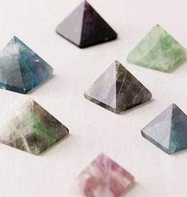 Chaparral-Studio Mini Fluorite Pyramid - Vanquish Bad Vibes