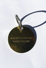 Chaparral-Studio Brass Key Tag Large Wherever you go