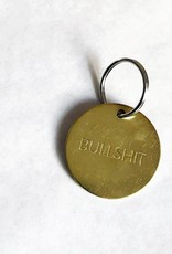 Chaparral-Studio Brass Key Tag Large Bullshit
