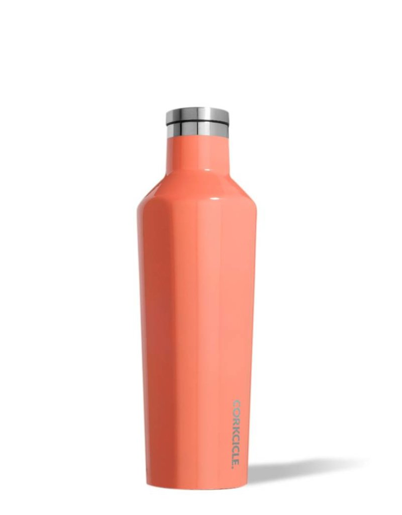 corkcicle 16oz Canteen Gloss Peach Echo