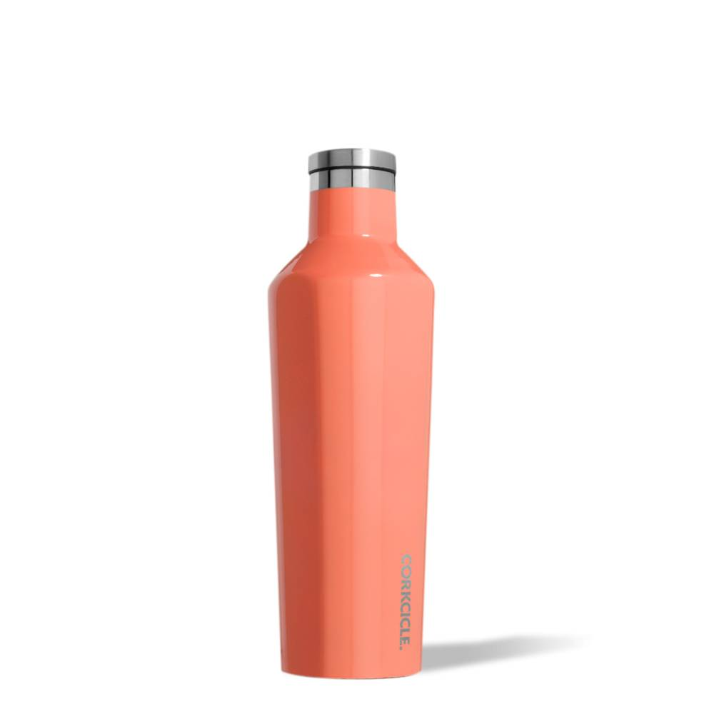 corkcicle 16oz Canteen Gloss Peach Echo
