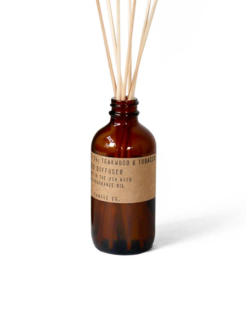 P.F.Candle Teakwood & Tobacco - 3.5 oz Reed Diffuser