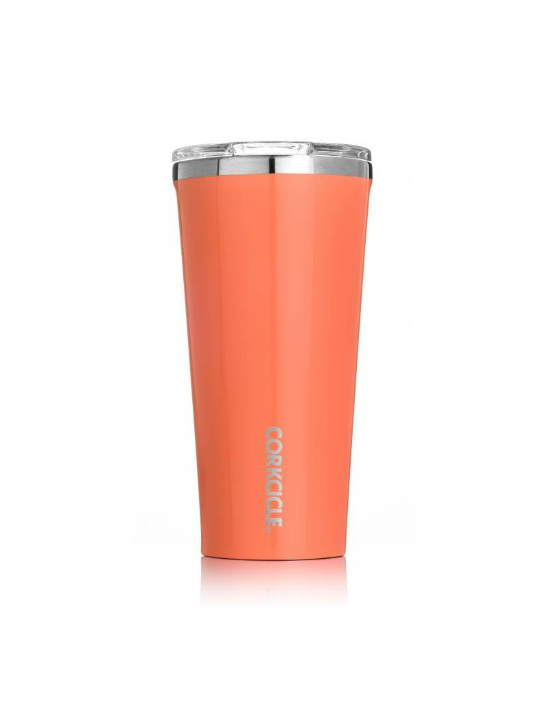 corkcicle 16oz Tumbler Gloss Peach Echo