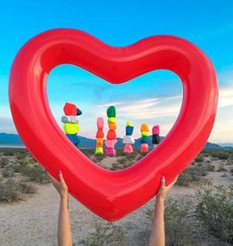Heart Ring Pool Float Red
