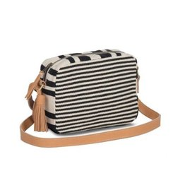 alba crossbody - black multi stripe