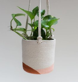 Closed Mondays Hanging Planter Large 8in Apricot Terra Cotta