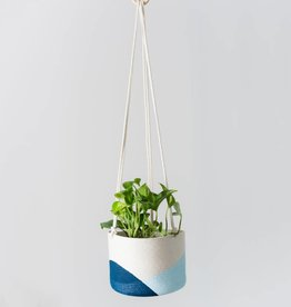Closed Mondays Hanging Planter Large 8in Pale Blue Ocean