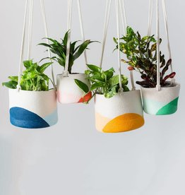 Closed Mondays Hanging Planter Small 6in Pink Red Orange