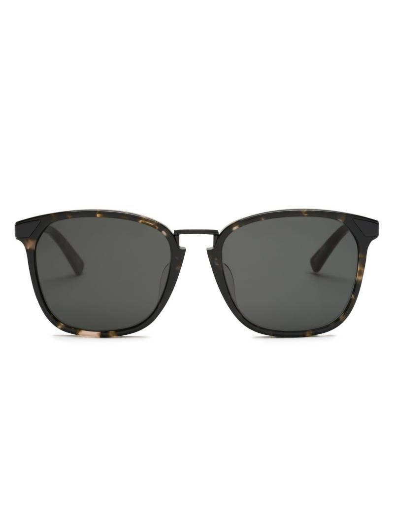 Covry Vega Walnut - Brown Black Acetate Black Hardware - Solid Black CR39 Lens