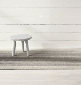 "Chilewich Block Stripe Shag 18"" x 28"" Taupe"