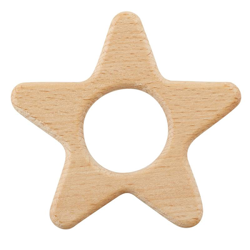 Creative Brands HEIRLOOMED STAR WOOD TEETHER