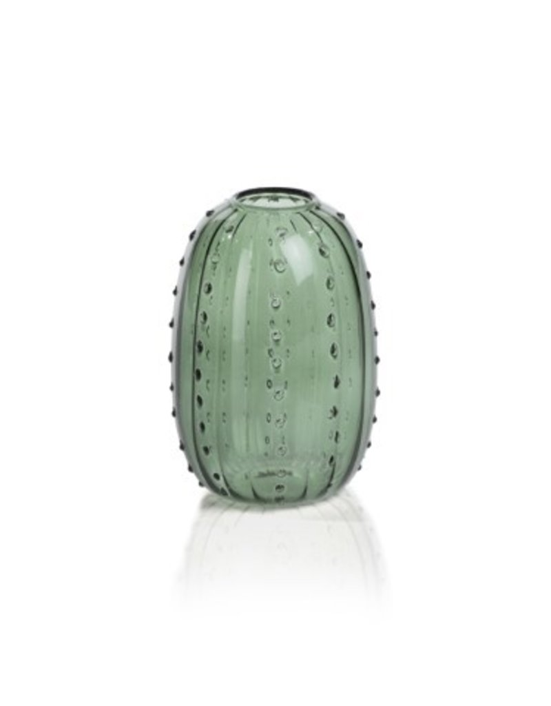 Zodax Santa Cruz   Cactus Vase Green