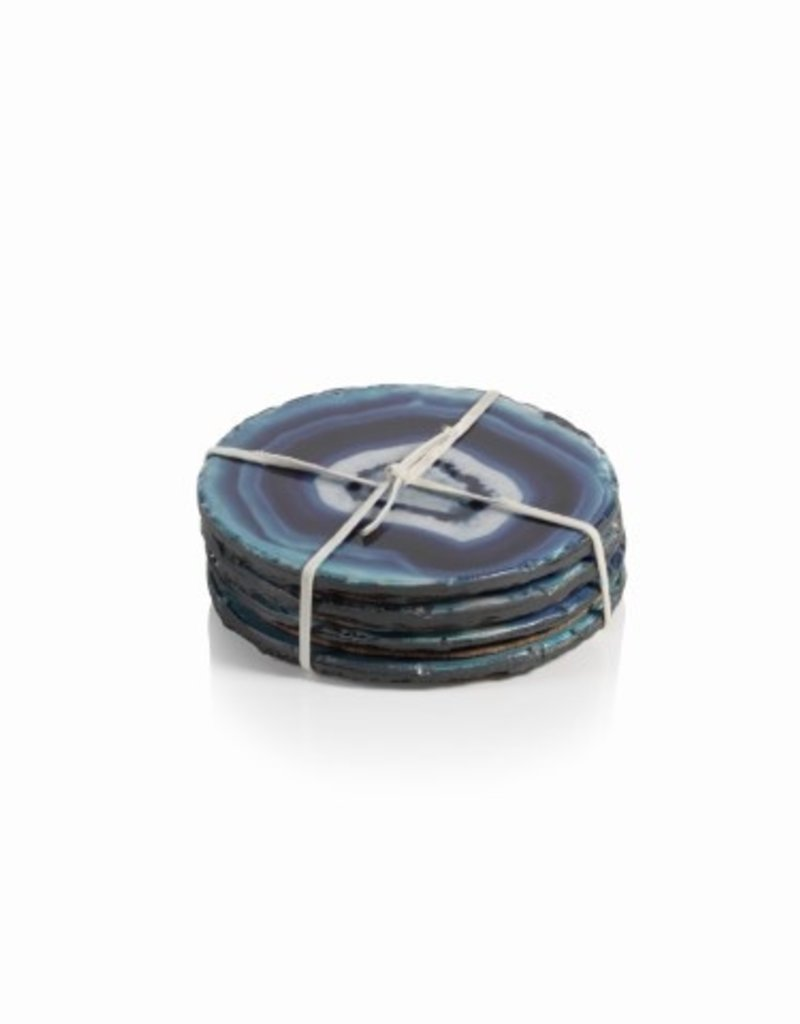 """Zodax Azul Faux Agate coasters Round 4"""" Coasters- Set/4, sold separate"""