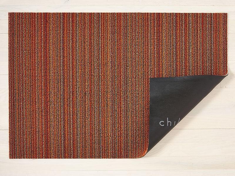 "Chilewich Skinny Stripe Shag 18"" x 28"" Orange"