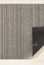 """Chilewich Skinny Stripe Shag 18"""" x 28"""" Soft Multi"""