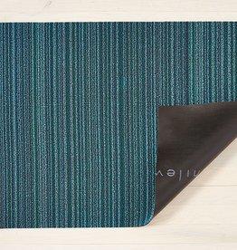 "Chilewich Skinny Stripe Shag 18"" x 28""Turquoise"