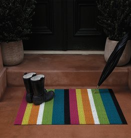 Chilewich Bold Stripe Shag Doormat 18x28-MULTI