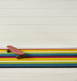 Chilewich Bold Stripe Shag Big Mat 36x60-MULTI