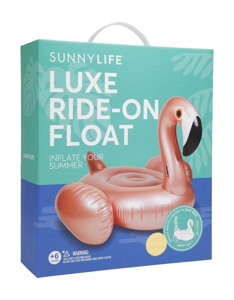 Sunnylife Ride On Float Rose Gold Flamingo