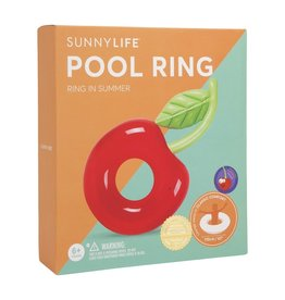 Sunnylife Lux Pool Ring Cherry