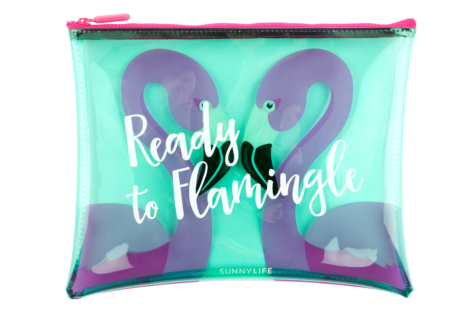 Sunnylife See Thru Pouch Flamingo