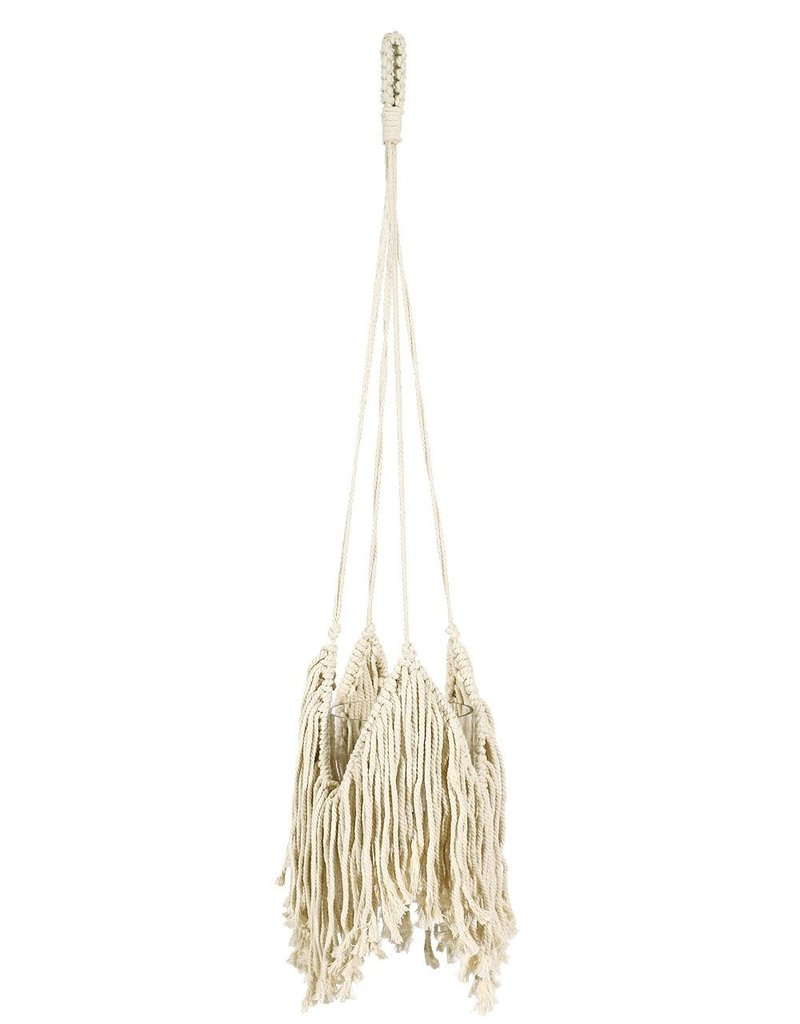 """Soul of the Party 37"""" Macrame Plant Hanger Natural"""