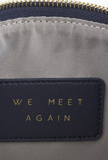 Creative Brands LEATHER POUCH - NAVY