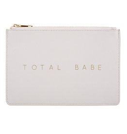 Creative Brands LEATHER POUCH - TAUPE GREY
