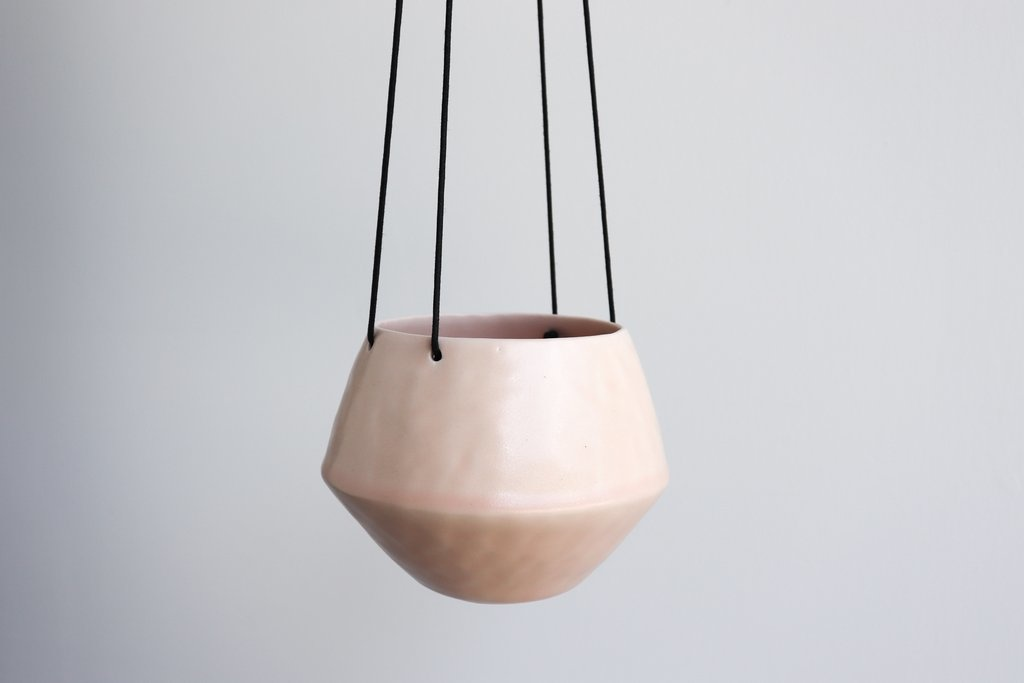 Benotti Round Pinched Hanging Planter - Small:Summer Sweet
