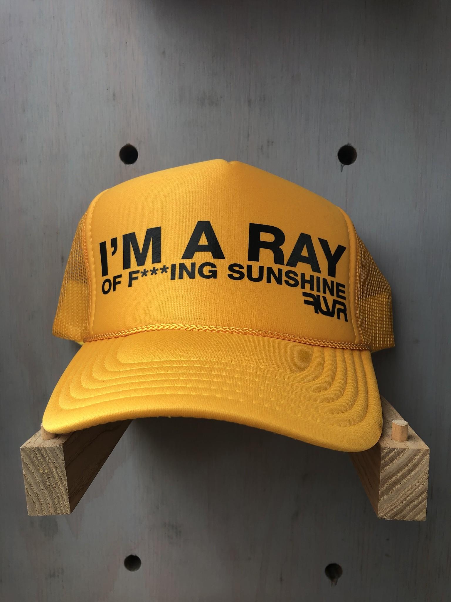 EskyFlavor I'm A Ray of Sunshine Hat Gold Black