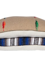 Sherpa Backed Mexican Pillow with Brass Zipper - Large 28x41""
