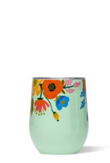 corkcicle Stemless - 12oz Riffle Paper, Gloss Mint Floral