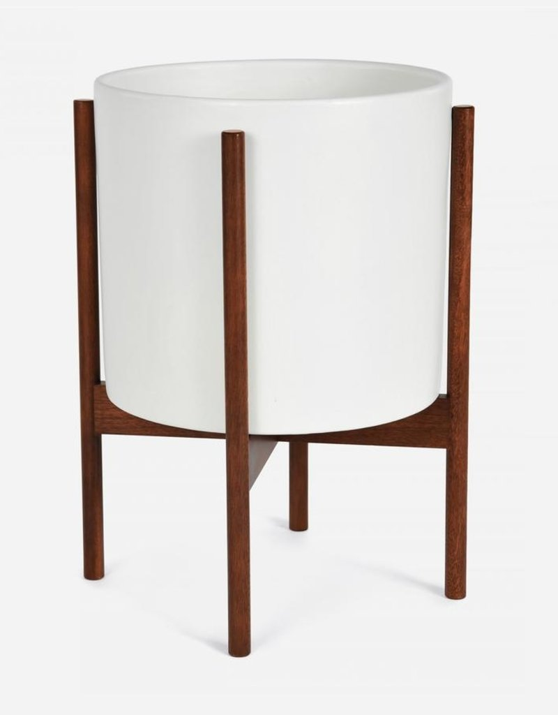 Modernica Large Cylinder w. Wood Stand - White