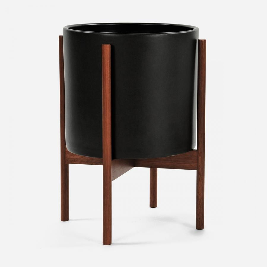 Modernica Large Cylinder w. Wood Stand - Black
