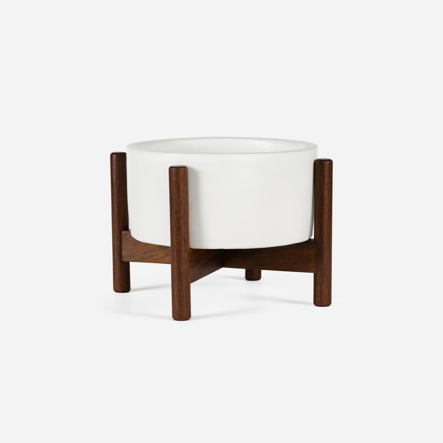 Modernica xxs Desk Top Cylinder w. Wood Stand White