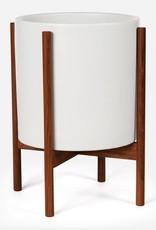 Modernica XL Cylinder w. Wood Stand - White