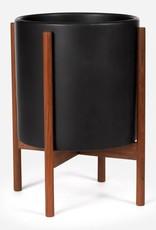Modernica XL Cylinder w. Wood Stand - Charcoal Black