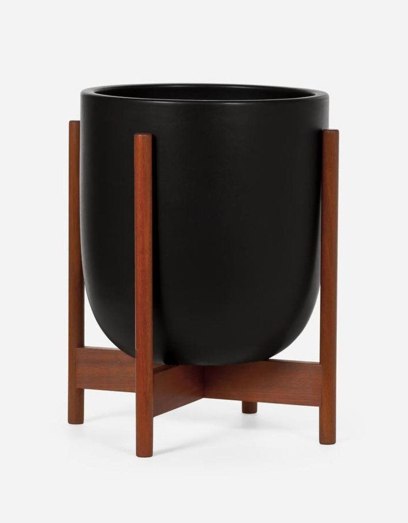 Modernica Ceramic Bullet Black with Wood Stand Small