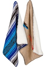 """Sherpa Backed Mexican Blanket 44x33""""Small"""