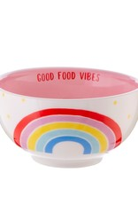 sass & belle XDC327 CHASING RAINBOWS GOOD FOOD VIBES BOWL
