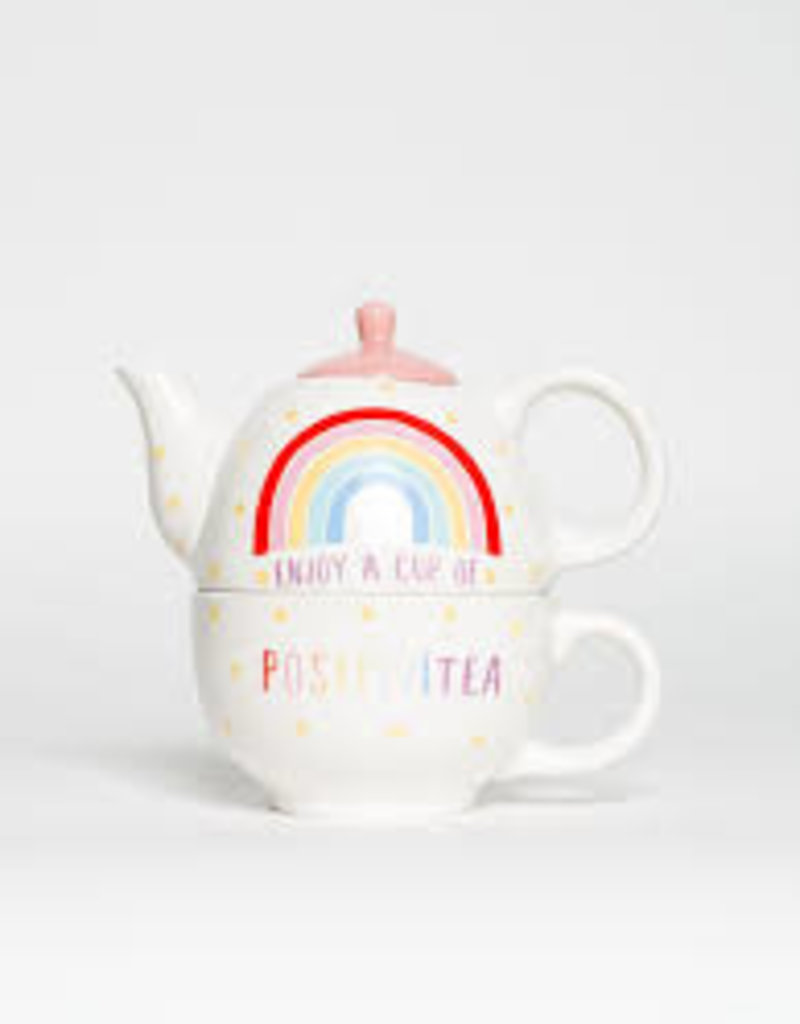 sass & belle XDC329 RAINBOW POSITIVITEA TEA FOR ONE