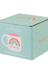 sass & belle XDC328CHASING RAINBOWS GOOD VIBES ONLY MUG