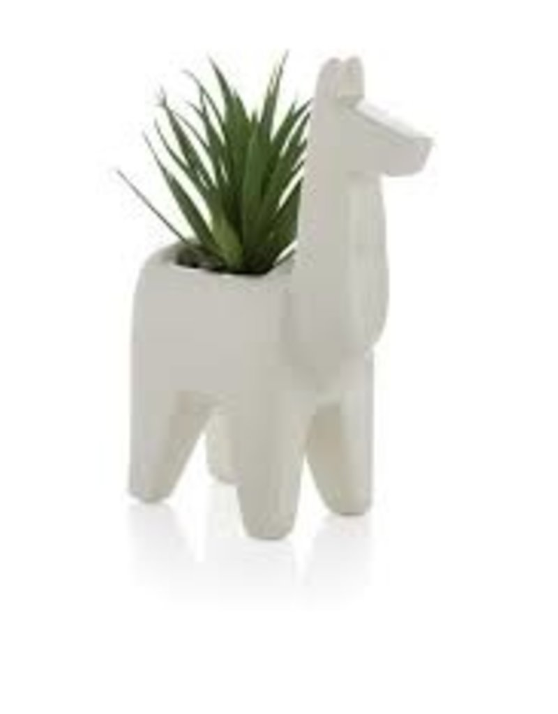 shiraleah LLAMA PLANTER WITH FAUX PLANT
