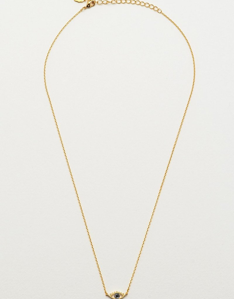 estella bartlett [EB1264C] Eye Necklace Gold Plated