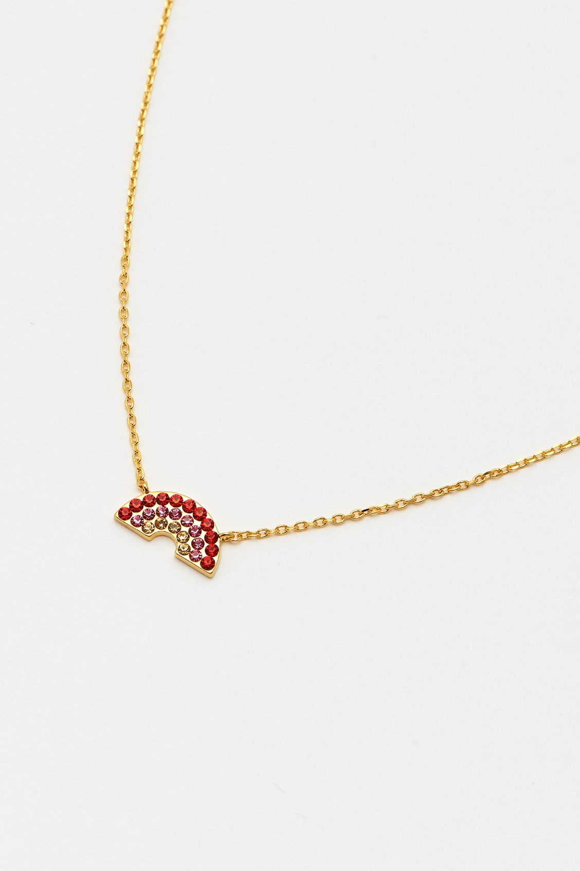 estella bartlett [EB1318C] Rainbow Necklace with CZ