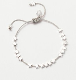 estella bartlett [EB320C] Stars So Bright Carded Friendship Bracelet Silver