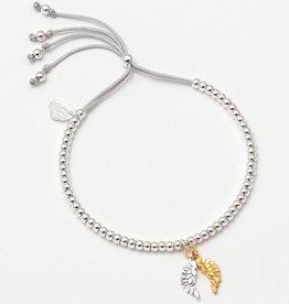 estella bartlett [EB1423C] Liberty Bracelet With Wings Charm