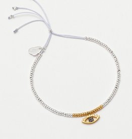 estella bartlett [EB2482C] Louise Bracelet with Eye Charm Silver Plated