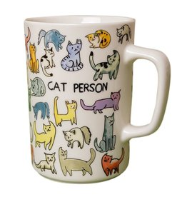 CAT PERSON MUG 16 OZ.