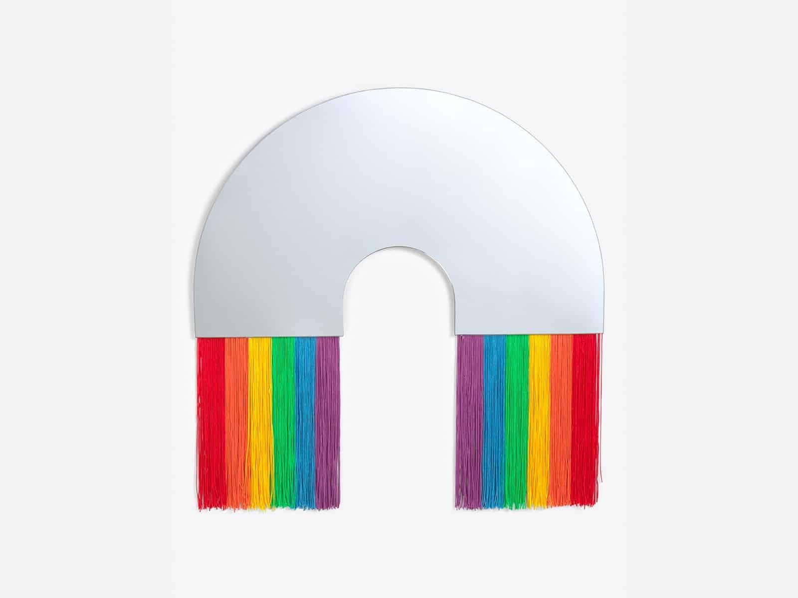 Rainbow Wall Mirror  Medium